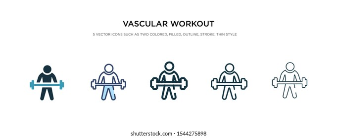 vascular workout icon in different style vector illustration. two colored and black vascular workout vector icons designed in filled, outline, line and stroke style can be used for web, mobile, ui