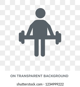 Vascular workout icon. Trendy flat vector Vascular workout icon on transparent background from sauna collection.