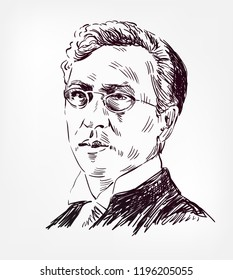 vasily kandinsky vector sketch portrait