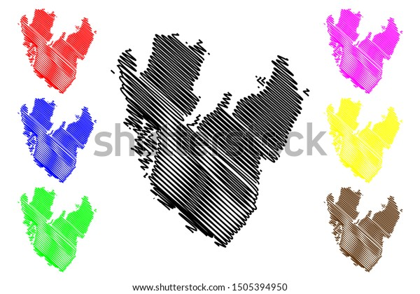 Vastra Gotaland County Counties Sweden Kingdom Stock Vector Royalty Free 1505394950