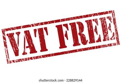 vat free grunge stamp with on vector illustration