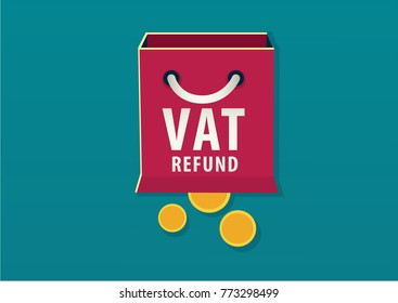 VAT refund concept. vector illustration