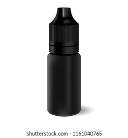 Vavpe liquid dropper bottle. Black container with lid for cosmetics or medicine.