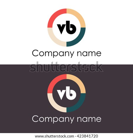 VB Letters Business Logo Icon Design Stock Image | Download Now