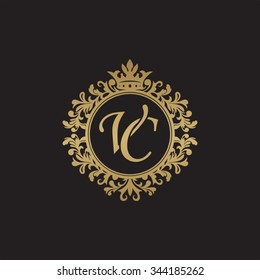 VC initial luxury ornament monogram logo