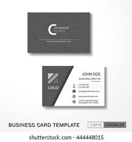 Vcard business card set gray. Vector EPS10 - CMYK : FOGRA39
