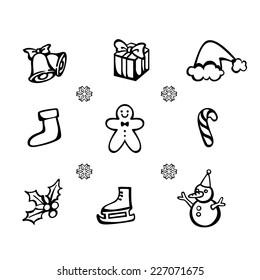 Vctor set of Christmas icon