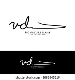 VD Initial letter handwriting and signature logo.