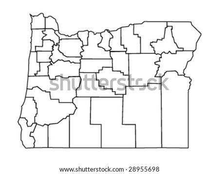 Vecotr Map Oregon Usa Stock Vector (Royalty Free) 28955698 ...