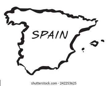 Map Of Spain Drawing.Spain Map Draw Images Stock Photos Vectors Shutterstock