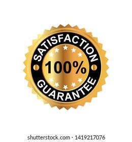 Vector 100% Satisfaction Guarantee-Vector Illustration