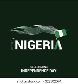 Vector 1st October Nigeria Independence Day. Celebration Card. Illustration
