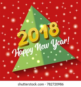 Vector 2018 Happy New Year greeting card or poster template flyer or invitation design.