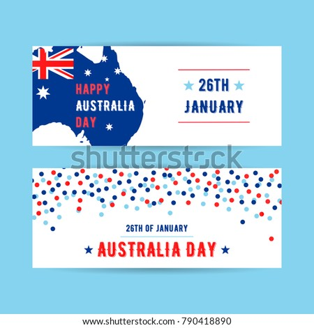 Map Of Australia 26th Parallel.Vector 26th January Happy Australia Day Stock Vector Royalty Free
