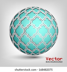 Vector 3d abstract background. Sphere.