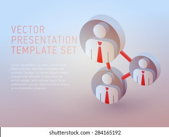 vector 3d empty template network
