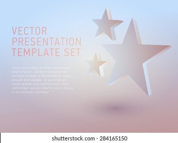 vector 3d empty template stars
