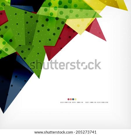Vector 3 D Geometric Shape Abstract Futuristic Stock Vector