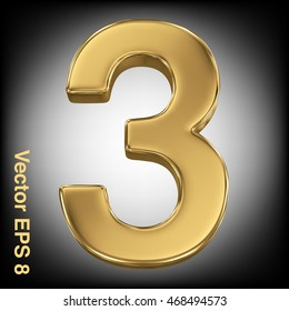 Vector 3d golden number collection - 3. Eps 8 using mesh.
