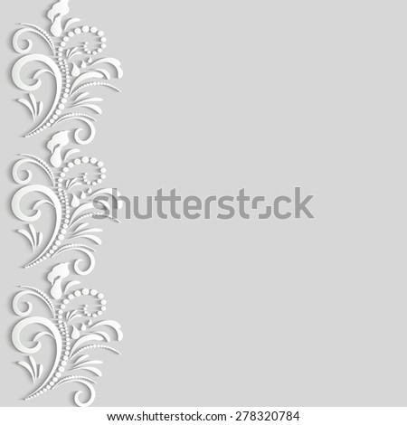 Vector 3 d paper flower elegant texture stock vector royalty free vector 3d paper flower elegant texture or pattern for a background with shadows and highlights mightylinksfo