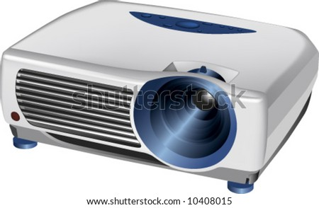 Vector 3 D Realistic Multimedia Projector Stock Vector (Royalty Free