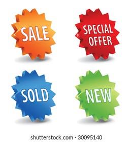 Vector 3d sale labels