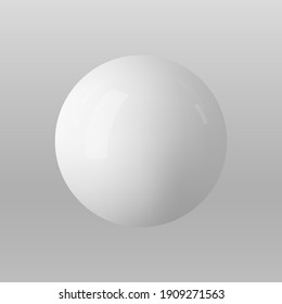 Vector 3d sphere. Realistic glossy 3d ball.