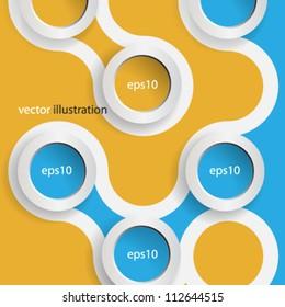 Vector 3D web design background - eps10