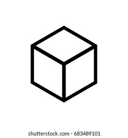 vector 3D white cube