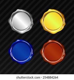 Vector 4 Color Tone Wax Seal