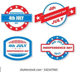 Vector 4th of july labels