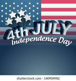 vector 4th of july text design