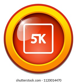 vector 5k icon ultra hd design - high definition display sign symbol