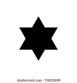 Vector 6 point star. Sheriff.