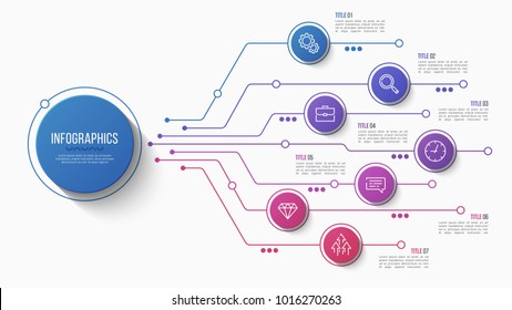 Obrazy i zdjcia edukacja fotografie edukacja shutterstock vector 7 options infographic design structure chart presentation template editable stroke and global ccuart Images