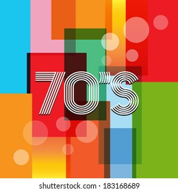 Vector 70's Art Background
