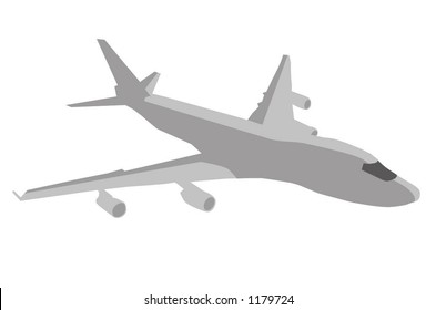 Vector 747 Airplane with shadows