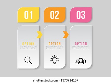 Vector 8 Options and steps Infographics Template Design. Business Data Visualization Timeline with Marketing Icons most useful can be used for presentation, diagrams, annual reports, workflow layout