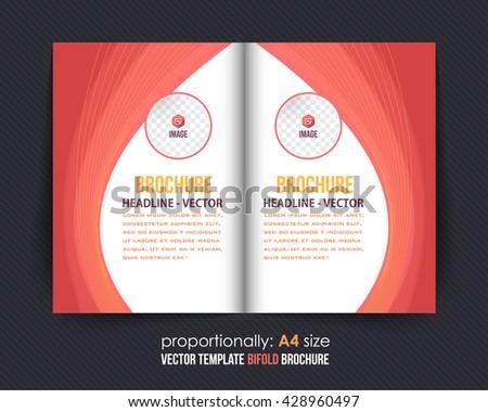 vector a 4 bi fold brochure template corporate stock vector royalty