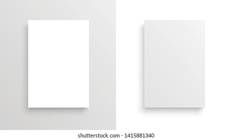 Vector A4 format paper with shadows - stock vector.