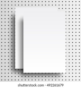 Vector A4 mockup isolated on white background. Ready for your design.