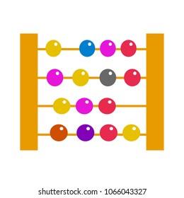 vector Abacus, education calculator - mathematics school illustration