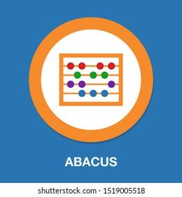 vector abacus icon, school & education icon