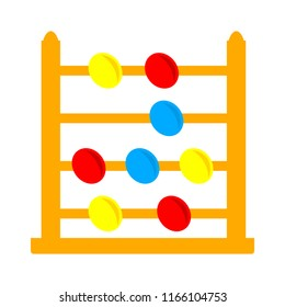 vector abacus icon, school & mathematics education icon