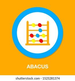 vector abacus icon, school & mathematics education icon