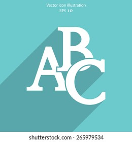 Vector abc icon illustration background.