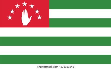 Vector Abkhazia flag