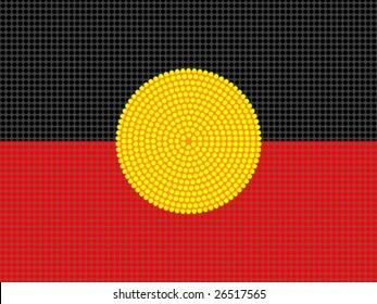 Vector aboriginal style flag design.