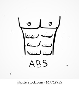 Vector abs Hand drawn