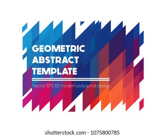 Vector absract geometric shapes, polygonal banner in bright colors
